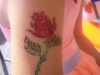 Glitter-Tattoo: Rose